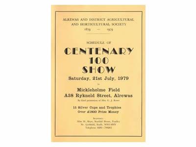 Alrewas Show Centenary Programme